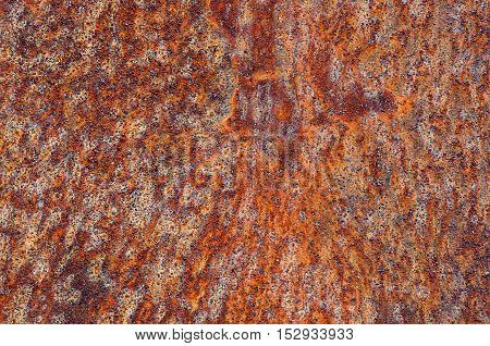 Rusted metallic surface texture as abstract background