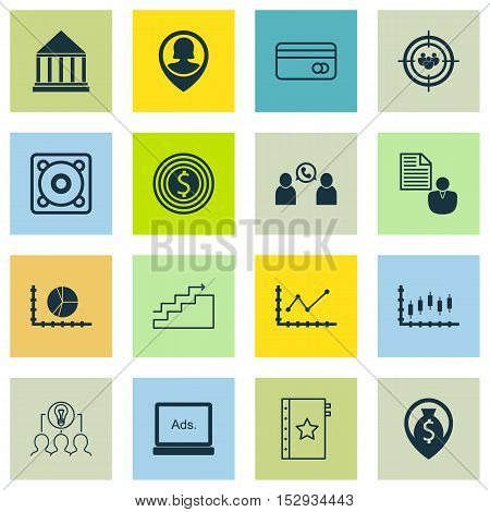 Set Of 16 Universal Editable Icons For Airport, Computer Hardware And Marketing Topics. Includes Ico