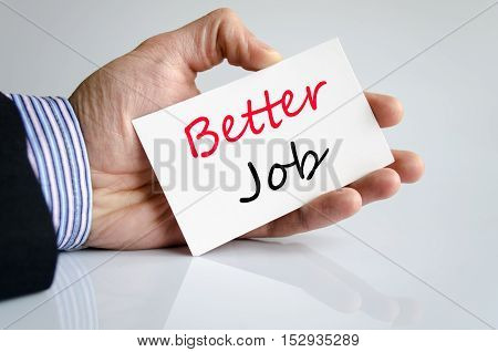 Better job text concept isolated over white background
