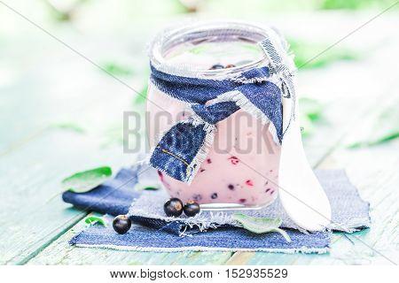 Yogurt Cocktail Black Currant Melissa