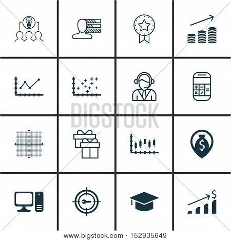Set Of 16 Universal Editable Icons For Airport, Human Resources And Hr Topics. Includes Icons Such A