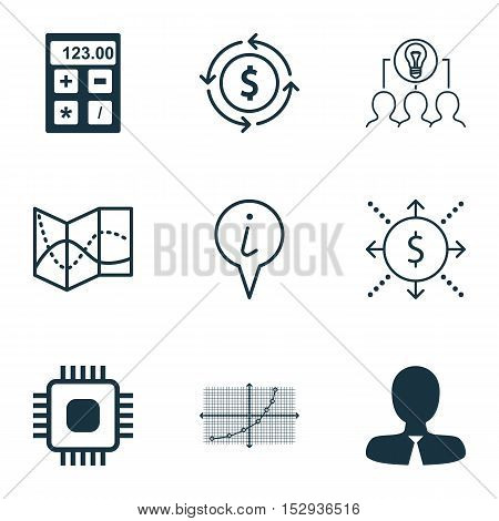Set Of 9 Universal Editable Icons For Hr, Computer Hardware And Project Management Topics. Includes