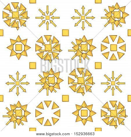Creative patterned image in the form of a square tile (vector EPS 10)