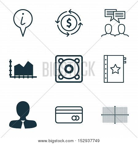 Set Of 9 Universal Editable Icons For Traveling, Computer Hardware And Statistics Topics. Includes I