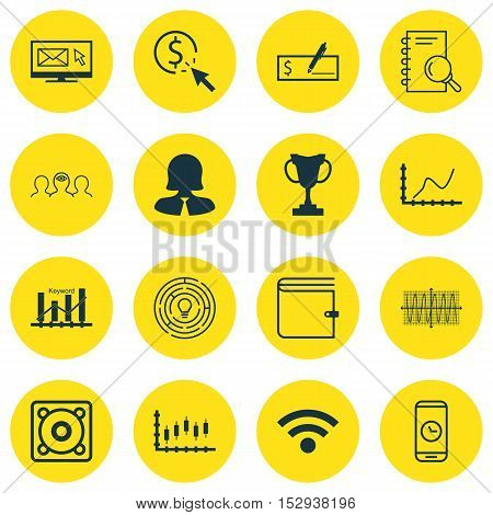 Set Of 16 Universal Editable Icons For Business Management, Hr And Human Resources Topics. Includes