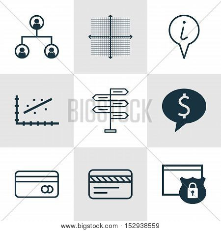 Set Of 9 Universal Editable Icons For Management, Traveling And Travel Topics. Includes Icons Such A