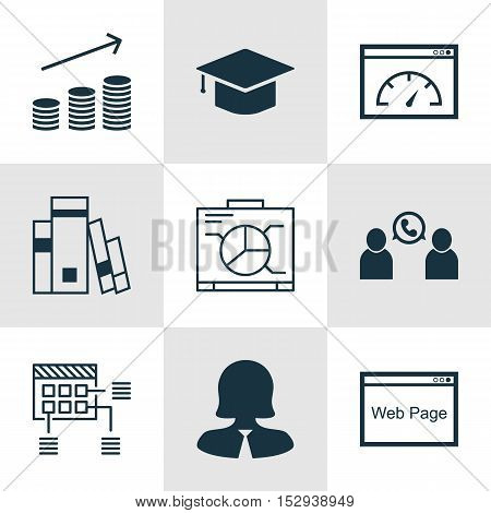 Set Of 9 Universal Editable Icons For Project Management, Hr And Advertising Topics. Includes Icons