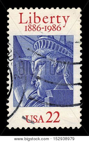 USA - CIRCA 1986: a stamp printed in United States of America shows