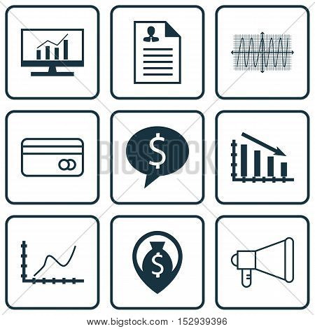 Set Of 9 Universal Editable Icons For Management, Hr And Statistics Topics. Includes Icons Such As B