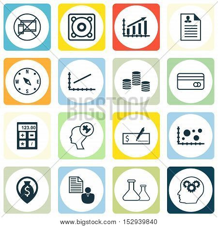 Set Of 16 Universal Editable Icons For Transportation, Travel And Computer Hardware Topics. Includes