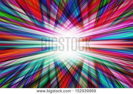 A multi coloured dynamic converging lines background
