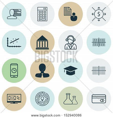 Set Of 16 Universal Editable Icons For Project Management, Marketing And Airport Topics. Includes Ic