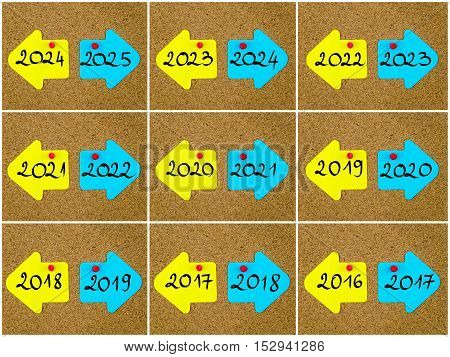Antonym Concepts Of New Year Versus Old Year Written On Opposite Arrows