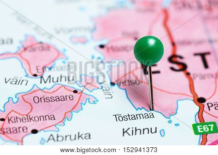 Tostamaa pinned on a map of Estonia