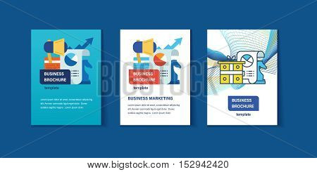 Concept of illustration - business marketing, management and planning. Abstract image templates for use in the form of brochures, flyers. Business brochure design template vector
