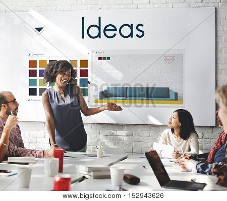Ideas Be Creative Inspiration Design Logo Concept