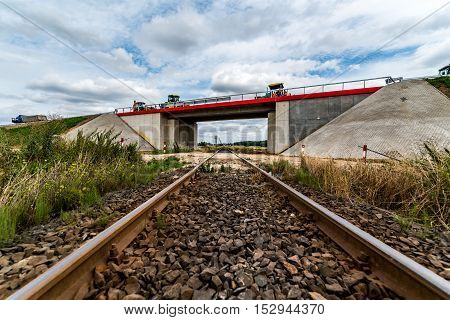 Large view on the old train track