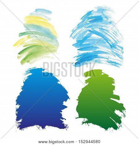 Wet Watercolor Wash. Vector Watercolor Background. Ombre Watercolor Vector Background. Teal Watercolor Background