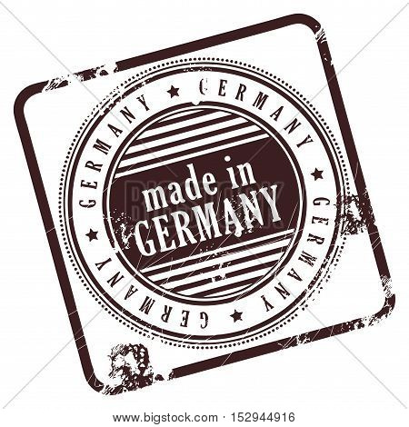 Grunge rubber stamp made in Germany, vector illustration