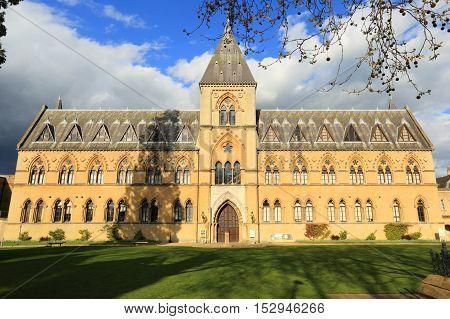 Pitt Rivers University Museum, Oxford, England. Photo taken from a public access sidewalk