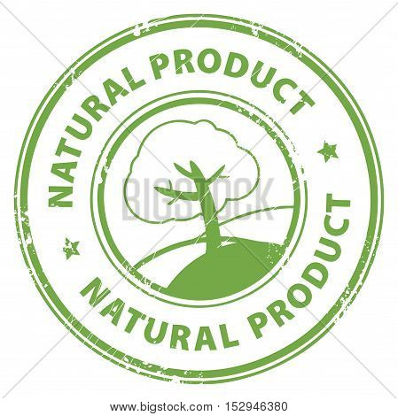 Grunge rubber stamp with the words Natural Product inside, vector illustration