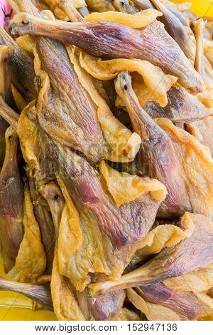 Heap Of Chinese Preserved Waxed Duck Thigh