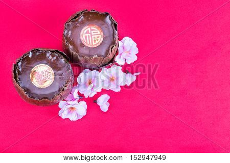 Glutinous Rice Cake With Good Luck In Chinese Words