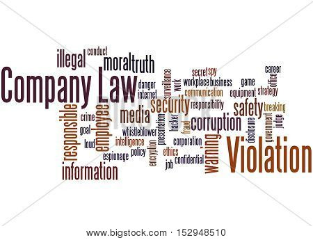 Company Law Violation, Word Cloud Concept 8