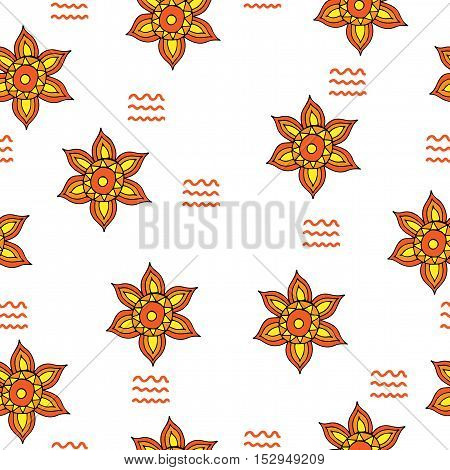 Abstract flower seamless. Vector pattern for banner card invitation textile fabric wrapping paper.
