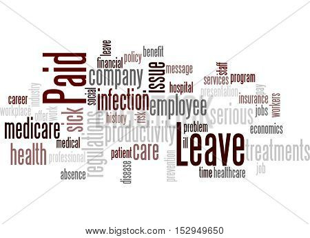 Paid Leave, Word Cloud Concept