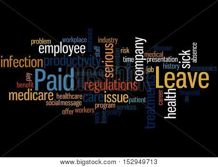 Paid Leave, Word Cloud Concept 6