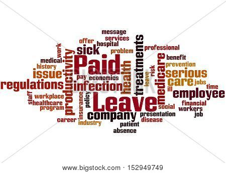 Paid Leave, Word Cloud Concept 9