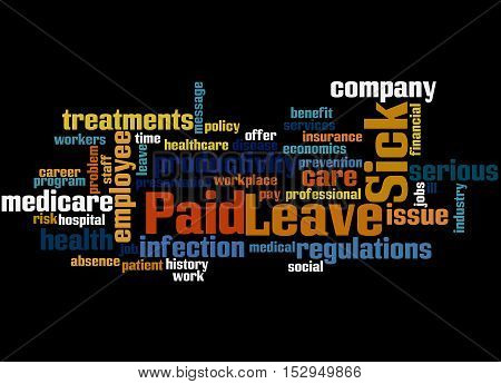 Paid Sick Leave, Word Cloud Concept 7