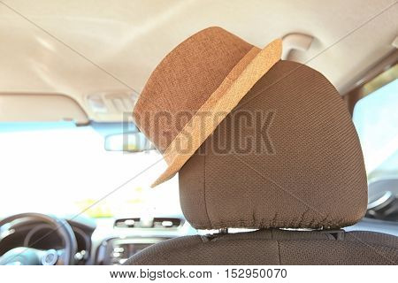 Hat on car seat head