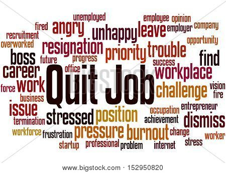 Quit Job, Word Cloud Concept 9