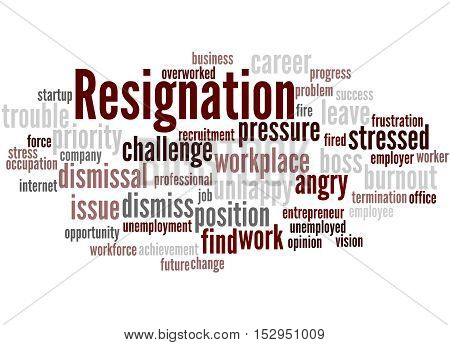 Resignation, Word Cloud Concept 9