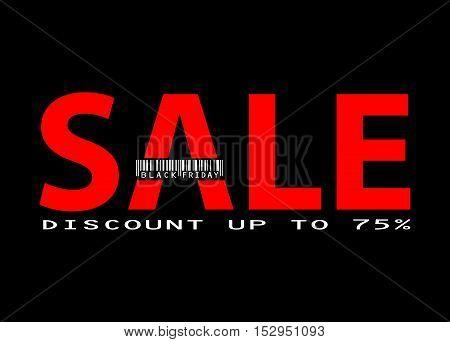 Sale. Black friday background. Design card, banner