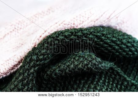 knitting wool texture background. Colorful knitted horizontal textured background. Christmas and New Year Design Background