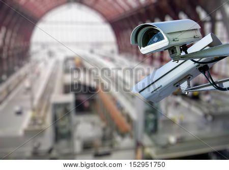 Cctv Camera Surveillance Train Station