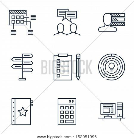 Set Of Project Management Icons On Schedule, Personal Skills And Innovation Topics. Editable Vector