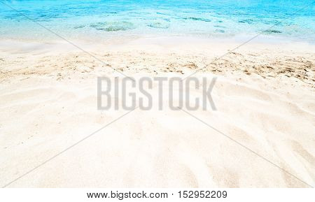 Beautiful Sea sand sky and summer day - Travel tropic resort wall paper.
