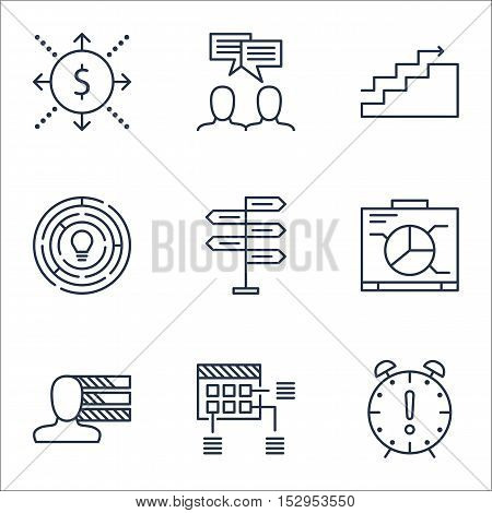 Set Of Project Management Icons On Opportunity, Innovation And Money Topics. Editable Vector Illustr
