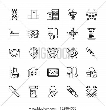 Medical line icons. Vector elements eps 10