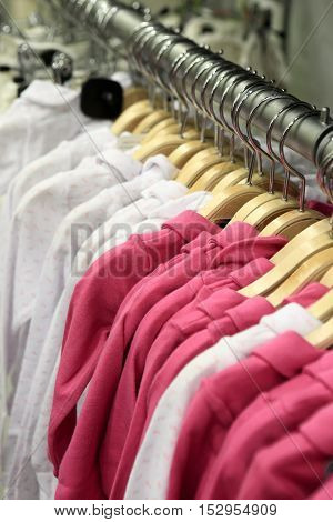 Details Of Clothes On Hangers