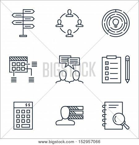 Set Of Project Management Icons On Collaboration, Investment And Personal Skills Topics. Editable Ve