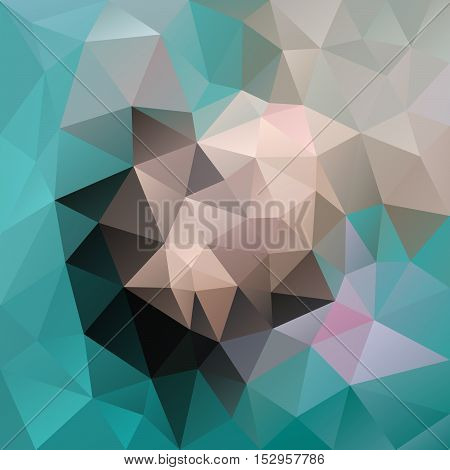 vector abstract irregular polygon background with a triangular pattern in blue green beige and gray colors