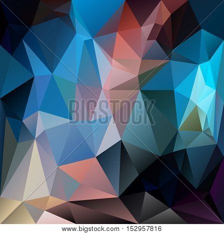vector abstract irregular polygon background with a triangular pattern in dark blue multi colored colors