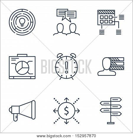Set Of Project Management Icons On Time Management, Personal Skills And Opportunity Topics. Editable