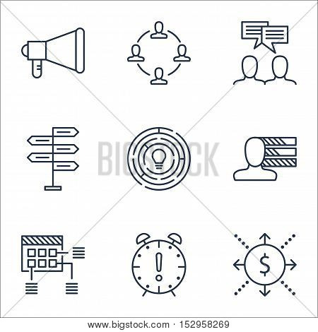 Set Of Project Management Icons On Opportunity, Money And Collaboration Topics. Editable Vector Illu