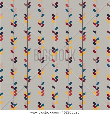 Nature pattern, Seamless vector illustration with autumn colorful branches